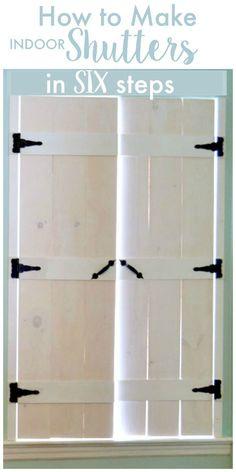 How to Make Indoor Shutters