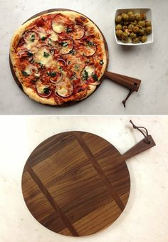 I like the dark colour because it lets us focus on something a little more than the pizza & it's something different.