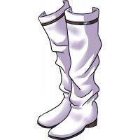 botas largas brancas