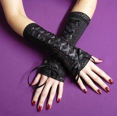 Nouveau Gothique Lolita Rock Noir Rouge Manchette Sissy longues bouffantes Leggings Pantalon