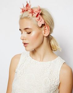 Discover hair accessories with ASOS. From beaded headbands to hair clippers and hair bows, our range of hair accessories has something for every occasion. Pastel Bridesmaid Dresses, Simple White Dress, White Hair Bows, Asos, Vintage Hawaii, Moda Online, Occasion Wear, Headband Hairstyles, Hair Band