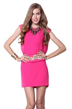 Vestido bordado-Rosa EUR€85.25