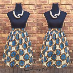 Ankara Gathered Skirt #SunshowerLove