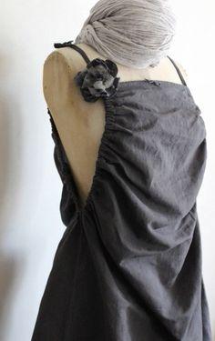 Robe tablier gris graphite Les couleurs de brocantine