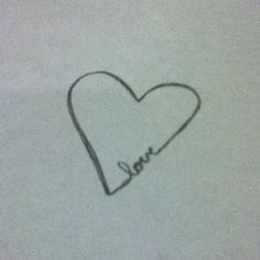 Heart is a little crooked, bit I think it's a cute tattoo idea <3