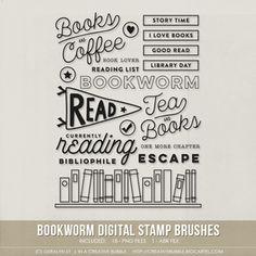 Image of Bookworm Stamp Brushes (Digital)