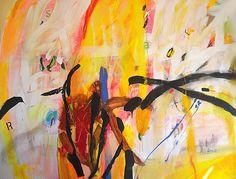 """De la primavera pasamos al abrazador verano:: Luis Altieri; Acrylic Painting """"Todos los pajaros"""""""