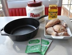 Fuss Free Fried Chicken - This is a way to actually fry chicken, in oil, in your oven