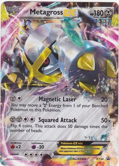 Metagross EX XY34 - STANDARD SIZE Pokemon PROMO HOLO Rare Card #Pokemon