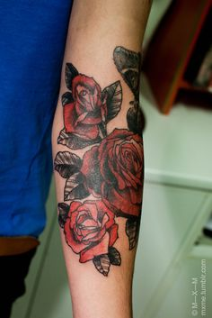 shaded tattoo with red | Electric Tattoos