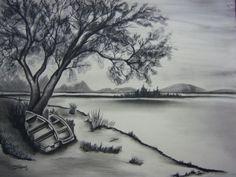 Karakalem-manzara-çizimi.jpg (550×413)