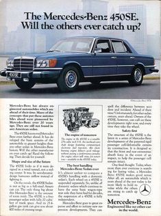 1974 Mercedes-Benz 450SE Advertising Road & Track November 1974   by SenseiAlan