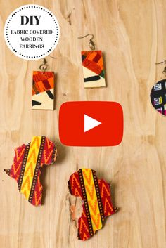 Super easy DIY fabric covered earrings tutorial using scrap fabric. I love that my african wax print fabric scraps don't got to waste.