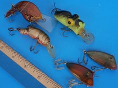 (Lot 5 Lures) Fast Trac Rebel Crawfish Pico Perch Style Frog unknown makers