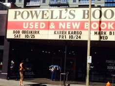 Guess who's coming to Powell's?