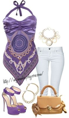 Fashion Moda Tips Lila Outfits, Mode Outfits, Casual Outfits, Fashion Outfits, Womens Fashion, Fashion Trends, Purple Fashion, Cute Fashion, Look Fashion
