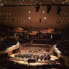 The Berliner Philharmonic plays for everybody that wants to listen every Tuesday at 1pm.