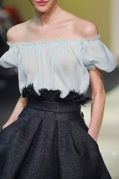 NYC Chic — Ulyana Sergeenko at Couture Spring 2013.