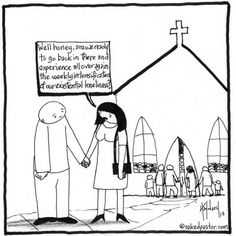 church and loneliness cartoon by nakedpastor david hayward