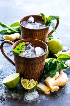 Scratch-Made Moscow Mules + Ginger Beer Concentrate