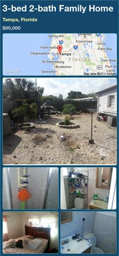 3-bed 2-bath Family Home in Tampa, Florida ►$80,000 #PropertyForSale #RealEstate #Florida http://florida-magic.com/properties/84164-family-home-for-sale-in-tampa-florida-with-3-bedroom-2-bathroom