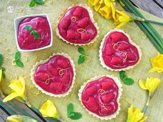 Healthy Raspberry Curd Hearts (Paleo). Look super yum and pretty.