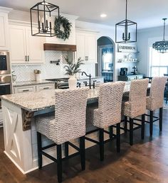 Likes, 121 Comments - Julia Kitchen Redo, Living Room Kitchen, Home Decor Kitchen, Kitchen Remodel, Kitchen Ideas, Dining Room, Modern Farmhouse Kitchens, Modern Farmhouse Decor, Home Kitchens