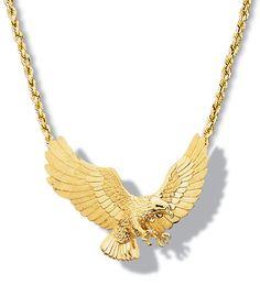 Flying Eagle Pendant 14k & 18k