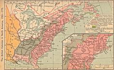 Three flags have flown over Detroit, and much of Michigan. This map shows Michigan as part of territory annexed by French Quebec. Later, it would pass into the hands of the English, then the Americans.