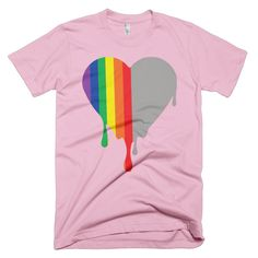 Right Rainbow Heart Tee Love Boyfriend, Rainbow Heart, Tees, Shopping, Women, T Shirts, Tee Shirts, Women's, Teas