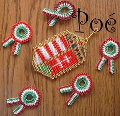 Poé gyöngyei: minták Beading Tutorials, Beaded Jewelry, Jewelery, Crochet Earrings, Beads, Pattern, Handmade, Crafts, March