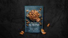 Rice Packaging, Food Packaging Design, Branding Design, Almond Nut, Luxury Food, Nut Recipes, Roasted Almonds, My Best Recipe, Box Design
