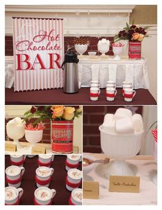 Hot coco bar for a Christmas get together