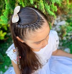 Baby Girl Hairstyles, Princess Hairstyles, Braided Hairstyles For Wedding, Easy Hairstyles For Long Hair, Pretty Hairstyles, Updo Hairstyle, Prom Hairstyles, Softball Hair Braids, Mc Hair