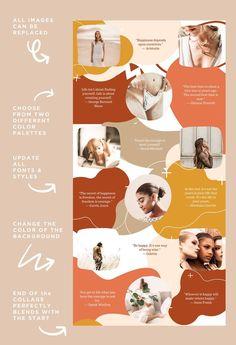 Muro Instagram, Instagram Collage, Instagram Grid, Instagram Frame, Instagram Design, Instagram Posts, Design Innovation, Quote Template, Instagram Story Template