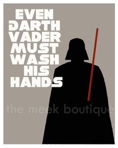 Star Wars Darth Vader Bathroom Wall Art Printable, No. 32. - TheMeekBoutique
