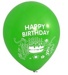 Happy Birthday Green Latex Balloons