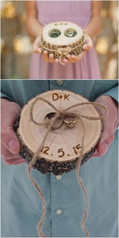RING BOX - Personalized WOODEN Ring Holder- Ring Bearer