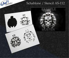 Step By Step Airbrush Stencil As-112 ~ Stencils ~ Umr-Design