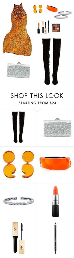 """""""Untitled #921"""" by ladyasdis ❤ liked on Polyvore featuring Alexander McQueen, Christian Louboutin, Ashlyn'd, Alexis Bittar, BERRICLE, MAC Cosmetics, Yves Saint Laurent, Gucci and Huda Beauty"""