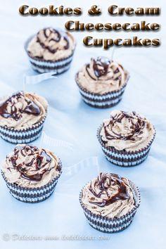 Cookies & Cream Cheesecake Cupcakes recipe