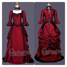 AliExpress ❤ liked on Polyvore featuring costumes, gothic costumes, punk rock halloween costume, red halloween costumes, victorian costumes and goth costume