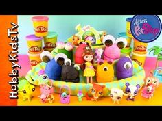 34be5c4b8a PLAY-DOH Surprise Toy Egg With Littlest Pet Shop HobbyKidsTV