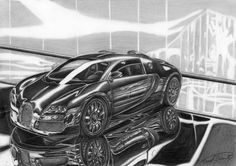 Bugatti Veyron A4 size.