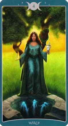 Four of Water - Book of Shadows Tarot (As Above) aka 4 of Cups