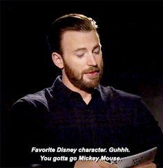 Chris Evan's favorite Disney Character