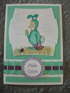 Osterkarte Easter card  Motiv Digistamp von Steachy Bear http://traumfaengerinsseite.blogspot.de/2014/04/mr-easterbunny-herr-osterhase.html