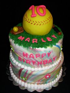 BIRTHDAY CAKES - softball cake