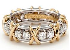 Tiffany ring ~gold hugs and diamond kisses!