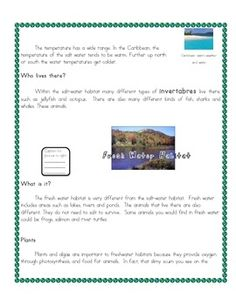 Habitats Reading Comprehension